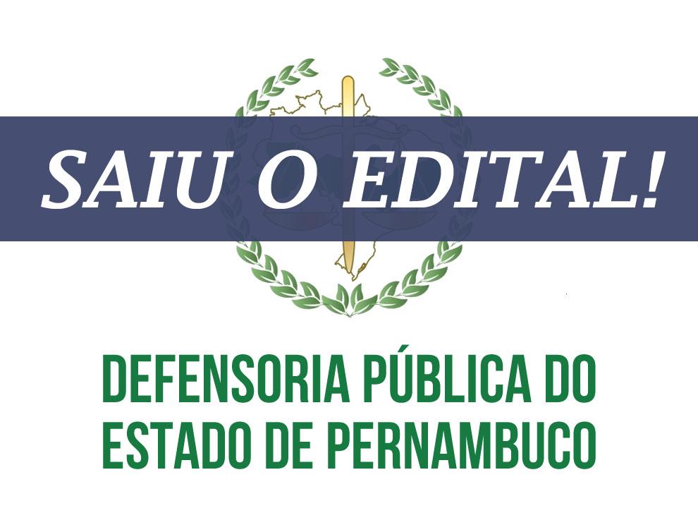 DPE-PE – SAIU O EDITAL!